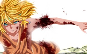 Картинка парень, раны, Рассвет Йоны, Akatsuki no Yona, Yona of the Dawn, жёлтый дракон