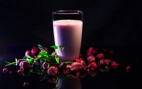 Картинка фон, еда, Raspberry Milkshake