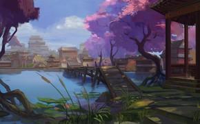 Обои пейзаж, азия, восток