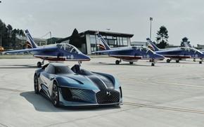 Картинка Concept, вид спереди, 2018, электромобиль, E-Tense, DS X, DS Automobiles