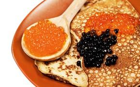Картинка ложка, блины, икра, выпечка, масленица, caviar, pancake