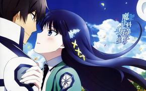 Картинка романтика, пара, двое, Mahouka Koukou no Rettousei, Непутёвый ученик в школе магии