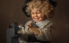 Картинка свет, радость, шляпа, мальчик, хомяк, малыш, костюм, кудри, ребёнок, кудрявый, зверёк, диапроектор, Елена Чернигина