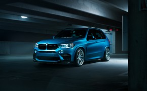 Картинка BMW, Dark, Blue, X5M