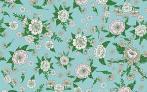 Картинка цветы, ретро, фон, винтаж