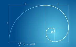 Картинка geometry, maths, golden ratio, blue paper