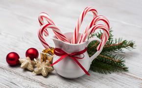 Картинка игрушки, рождество, лента, леденцы, кувшин, декор, candy, Olena Rudo