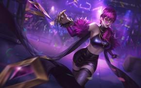 Картинка взгляд, девушка, идёт, Лига Легенд, League Of Legends