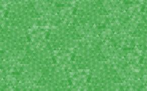 Картинка абстракция, фон, узор, зелёный, геометрия, треугольник