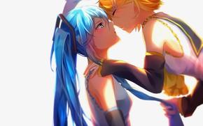 Картинка девушки, аниме, арт, Vocaloid