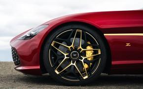 Картинка красный, Aston Martin, купе, колесо, Zagato, 2020, V12 Twin-Turbo, DBS GT Zagato, 760 л.с.