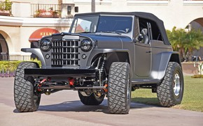 Картинка custom, 4x4, offroad, 1950, mike warn 1950 willys jeepster tim divers, JEEPSTER, WILLYS
