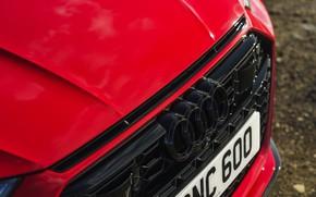 Картинка Audi, капот, решётка, RS 7, 2020, UK version, RS7 Sportback