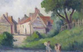 Картинка пейзаж, картина, Максимильен Люс, Maximilien Luce, Пикиньи