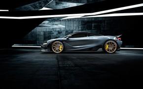 Картинка McLaren, суперкар, вид сбоку, Vorsteiner, 2018, 720S, Silverstone Aero Program
