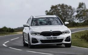 Картинка поворот, BMW, 3-series, универсал, 3er, 2020, UK version, G21, 330i Touring