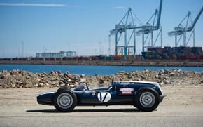 Картинка Cooper, Порт, Formula 1, Краны, Classic car, 1961, Sports car, Cooper T54, Indianapolis 500, Indianapolis …