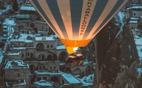 Картинка горы, воздушный шар, люди, воздухоплавание, mountains, people, balloon, ballooning