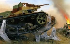 Картинка польша, 7TP, LT vz.35, Jaroslaw Wrobel, Легкий польский танк