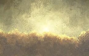 Картинка небо, солнце, деревья