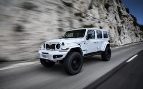 Картинка скала, скорость, Wrangler, Jeep, Unlimited, 2019, Militem, Ferōx