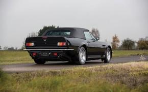 Картинка Черный, Британский автомобиль, Aston Martin V8 Vantage Volante