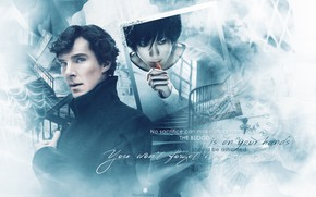 Картинка арт, Death Note, Тетрадь Смерти, Шерлок Холмс, кроссовер, Бенедикт Камбербэтч, Sherlock, Sherlock BBC, Sherlock Holmes, …