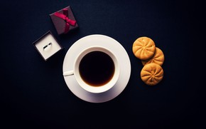 Картинка кофе, печенье, чашка