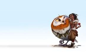 Обои птица, арт, герой, детская, ездовой, The Journey of Aviator, Kun Vic, Cast of the character ...