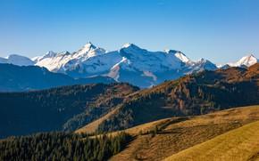 Картинка небо, горы, холмы, Австрия