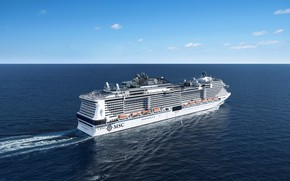 Картинка Океан, Море, Лайнер, Судно, Пассажирское судно, MSC, Cruise Ship, Passenger Ship, MSC Cruises, Cruise Line, …