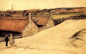 Картинка город, Винсент ван Гог, View of Scheveningen