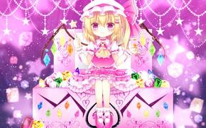 Картинка розовый, девочка, Touhou, Тохо, Тоухоу