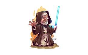 Картинка Star Wars, Derek Laufman, Obewan