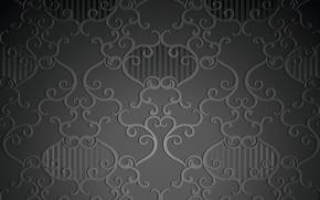 Картинка ретро, узор, wallpaper, черный фон, орнамент, винтаж