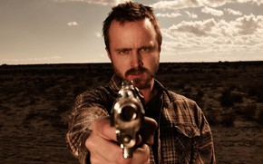 Картинка пистолет, дуло, Путь, Во все тяжкие, Breaking Bad, El Camino, Aaron Paul, Jesse Pinkman, Джесси …