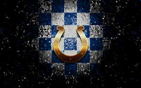 Картинка wallpaper, sport, logo, NFL, glitter, checkered, Indianapolis Colts