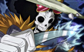 Обои skull, One Piece, pirate, war, anime, samurai, hero, asian, manga, oriental, asiatic, skeleton, kaizoku, japonese, ...