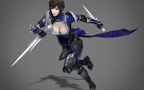Картинка девушка, оружие, фон, воин