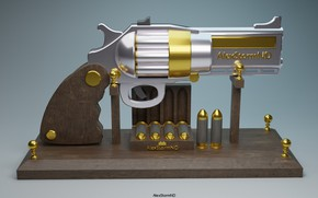 Картинка пистолет, игрушка, декор, AlexStormND