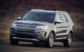 Картинка дорога, Ford, SUV, Explorer, 2016