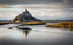 Картинка пейзаж, природа, Mont Saint Michel