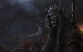 Картинка Рисунок, Властелин Колец, Арт, Art, Призрак, The Lord of the Rings, Concept Art, Назгул, Characters, …