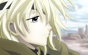 Картинка лицо, аниме, парень, блондин, Tsubasa Reservoir Chronicles