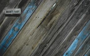 Картинка серый, голубой, табличка, доски, забор, почта