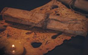 Картинка стиль, бумага, огонь, карта, пираты, старая карта, свечка, винтаж, чыкча