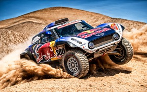 Картинка Авто, Mini, Пустыня, Машина, Автомобиль, 300, Rally, Dakar, Дакар, Ралли, Buggy, Багги, X-Raid Team, MINI …