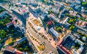 Картинка высота, Беларусь, Минск, Belarus, площадь Независимости, Minsk, Красный Костёл