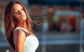 Картинка взгляд, девушка, волосы, Greta, Marco Squassina