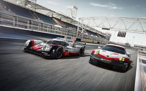 Картинка 911, Porsche, Hybrid, GT3 R, 919